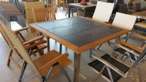 Teakhout Gloster tafel vierkant